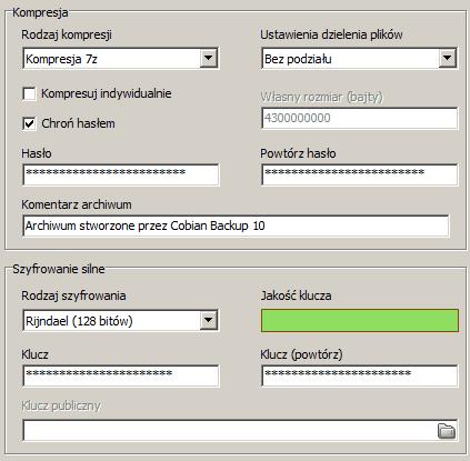 Cobian backup - pakowanie i szyfrowanie backupu